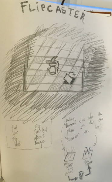 This sketch is from about three years before I created the eventual game. Good design takes years to come together.